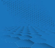 Abstrakcjonistyczny zmrok - błękitny sześciokąt technologii tło Zdjęcia Stock