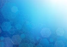 Abstrakcjonistyczny zmrok - błękitny sześciokąta projekta tło Zdjęcie Stock