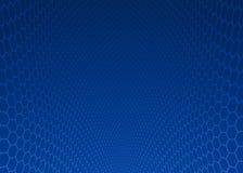Abstrakcjonistyczny zmrok - błękitny sześciokąta projekta tło Obraz Stock