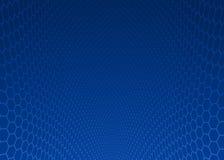 Abstrakcjonistyczny zmrok - błękitny sześciokąta projekta tło Fotografia Royalty Free