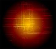 Abstrakcjonistyczny zmrok - czerwony tło techniczny Obraz Stock