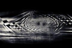 Abstrakcjonistyczny zmrok spiral wzór nad betonem Zdjęcia Royalty Free