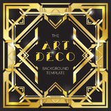Abstrakcjonistyczny złocisty art deco stylu tło Fotografia Stock