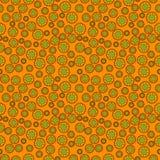 Abstrakcjonistyczny złocisty tło z elementami kwiaty Obraz Stock