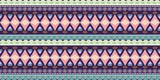 Abstrakcjonistyczny zygzakowaty wzór dla okładkowego projekta Retro afrykański wektorowy tło Geometryczny dekoracyjny bezszwowy royalty ilustracja