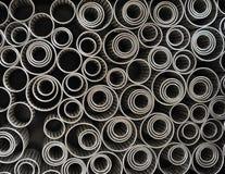 abstrakcjonistycznych curlers kruszcowa tekstura Zdjęcie Royalty Free
