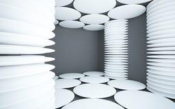 abstrakcjonistycznych czarny kolumn wewnętrzny biel Fotografia Royalty Free
