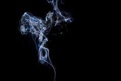 abstrakcjonistycznych czerni tła kształtów dymu bardzo delikatne Obrazy Stock