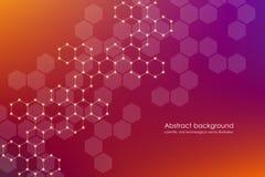 abstrakcjonistycznych dostępnych tła eps8 formatów heksagonalny jpeg Medyczny, naukowy lub technologiczny pojęcie, Geometryczne p Zdjęcie Stock