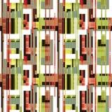 Abstrakcjonistycznych elementów bezszwowy deseniowy retro tło Obrazy Royalty Free
