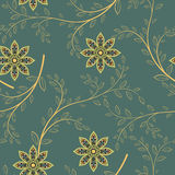 Abstrakcjonistycznych geometrycznych kwiatów bezszwowy wzór szczegółowy rysunek kwiecisty pochodzenie wektora Zdjęcia Stock