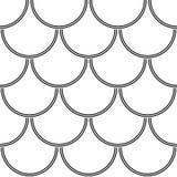 Abstrakcjonistycznych geometrycznych okregów bezszwowy wzór Zdjęcia Stock