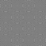 Abstrakcjonistycznych geometrycznych okregów bezszwowy wzór Obraz Stock