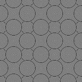 Abstrakcjonistycznych geometrycznych okregów bezszwowy wzór Obraz Royalty Free