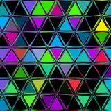 Abstrakcjonistycznych geometrycznych trójboków ciągły wzór ilustracja wektor