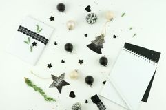 abstrakcjonistycznych gwiazdkę tła dekoracji projektu ciemnej czerwieni wzoru star white kreatywnie abstrakcjonistyczny skład xma Fotografia Stock