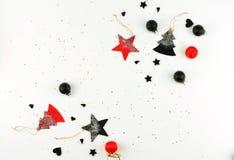 abstrakcjonistycznych gwiazdkę tła dekoracji projektu ciemnej czerwieni wzoru star white kreatywnie abstrakcjonistyczny skład xma Zdjęcia Stock