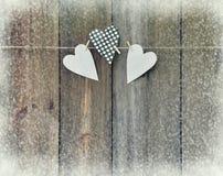abstrakcjonistycznych gwiazdkę tła dekoracji projektu ciemnej czerwieni wzoru star white nieociosany drewniany tło z sercami hand Fotografia Royalty Free