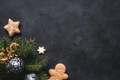 abstrakcjonistycznych gwiazdkę tła dekoracji projektu ciemnej czerwieni wzoru star white Piernikowi ciastka, jedlinowy drzewo, bo Zdjęcie Stock