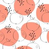 Abstrakcjonistycznych jabłek wektoru bezszwowy wzór Fotografia Stock