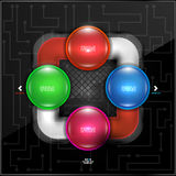 Abstrakcjonistycznych kolorowych bąbli infographic projekt Zdjęcie Royalty Free