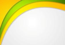 Abstrakcjonistycznych kolorowych fala elegancki tło Fotografia Stock