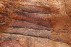 Abstrakcjonistycznych kolorowych wzorów piaskowcowy wąwóz Siq, Różany miasto, Petra, Zdjęcia Stock