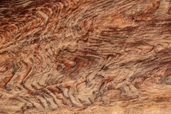 Abstrakcjonistycznych kolorowych wzorów piaskowcowy wąwóz Siq, Różany miasto, Petra, Obrazy Royalty Free