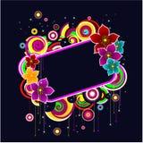 abstrakcjonistycznych kwiatów ramowy rozjarzony sha Zdjęcia Stock