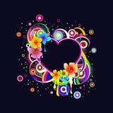abstrakcjonistycznych kwiatów ramowy rozjarzony sha Obrazy Royalty Free