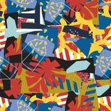 Abstrakcjonistycznych kwiecistych elementów papierowy kolaż Zdjęcia Stock