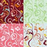 abstrakcjonistycznych kwiecistych wzorów bezszwowy set Obraz Stock