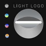 Abstrakcjonistycznych logo iluminacj przemysłowy lekki kolor i grayscale Fotografia Stock
