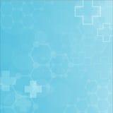 Abstrakcjonistycznych molekuł medyczny tło Zdjęcia Royalty Free