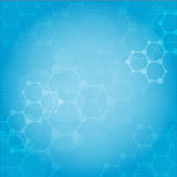 Abstrakcjonistycznych molekuł medyczny tło royalty ilustracja
