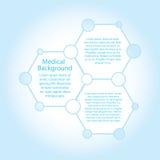 Abstrakcjonistycznych molekuł medyczny tło z kopii przestrzenią  ilustracji