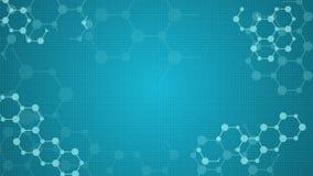 Abstrakcjonistycznych molekuł medyczny zapętlający animowany tło ilustracja wektor