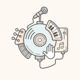 Abstrakcjonistycznych muzycznych narzędzi kreskowa ikona Obraz Stock