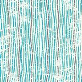 Abstrakcjonistycznych niebieskich linii bezszwowa tekstura z grunge skutkiem Zdjęcie Royalty Free