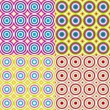 abstrakcjonistycznych okregów deseniowy setu wektor Zdjęcia Stock