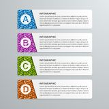 Abstrakcjonistycznych opcj infographics papierowy szablon Fotografia Stock
