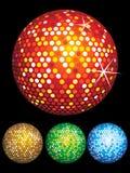abstrakcjonistycznych piłek kolorowy dyskoteki set Zdjęcie Royalty Free