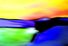 abstrakcjonistycznych plażowych wzgórzy krajobrazowy oceanu niebo Zdjęcie Stock