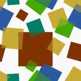 Abstrakcjonistycznych prostokątów Bezszwowy wzór Obraz Stock