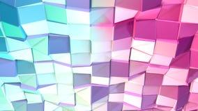 Abstrakcjonistycznych prostych błękit menchii niska poli- 3D powierzchnia jako CG tło Miękki geometryczny niski poli- ruchu tło p royalty ilustracja