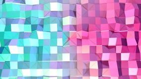 Abstrakcjonistycznych prostych błękit menchii niska poli- 3D powierzchnia jako chłodno tło Miękki geometryczny niski poli- ruchu  royalty ilustracja