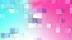 Abstrakcjonistycznych prostych błękit menchii niska poli- 3D powierzchnia jako korporacyjny tło Miękki geometryczny niski poli- r royalty ilustracja