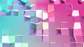 Abstrakcjonistycznych prostych błękit menchii niska poli- 3D powierzchnia jako modny tło Miękki geometryczny niski poli- ruchu tł ilustracja wektor