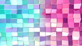 Abstrakcjonistycznych prostych błękit menchii niska poli- 3D powierzchnia jako mody tło Miękki geometryczny niski poli- ruchu tło zbiory