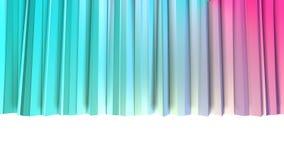 Abstrakcjonistycznych prostych błękit menchii niskie poli- 3D zasłony jako ciekawy środowisko Miękki niski poli- ruchu tło przesu royalty ilustracja